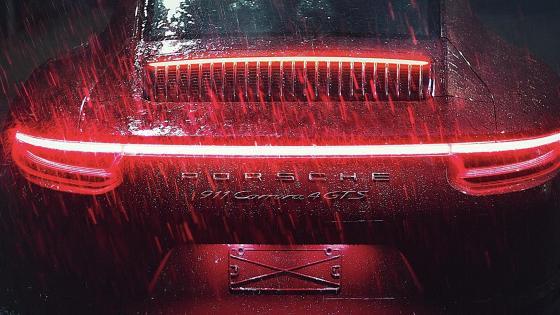Rainy Night with Porsche  wallpaper