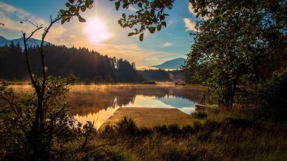 Egelsee Lake in Austria wallpaper
