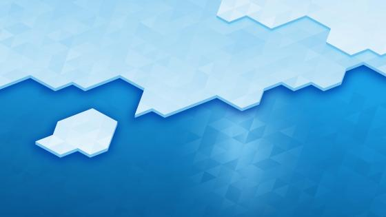 Blue triangle ice wallpaper