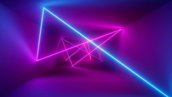 Pink neon art wallpaper