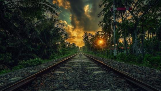 Railway wallpaper
