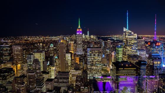 NYC City Lights wallpaper