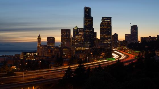 I-5 & the Seattle Skyline wallpaper