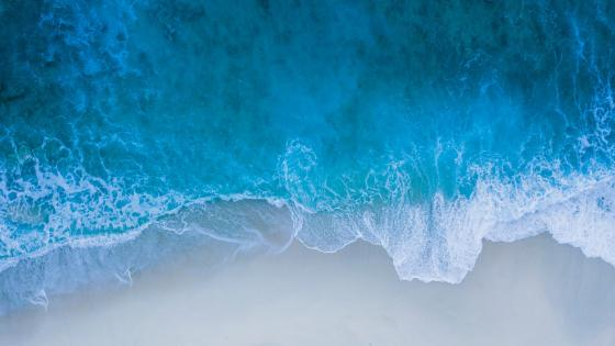 The blue sea from above wallpaper