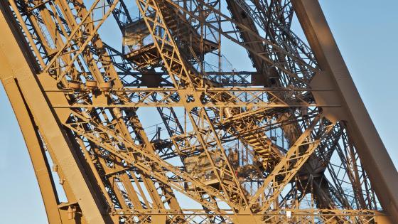 Eiffel Tower Northern Pillar Staircase wallpaper