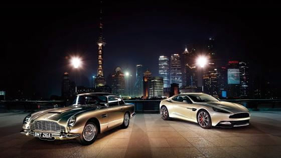 Super Cars In The City Night wallpaper