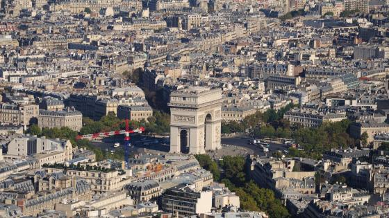 Arc de Triomphe & the City of Paris wallpaper