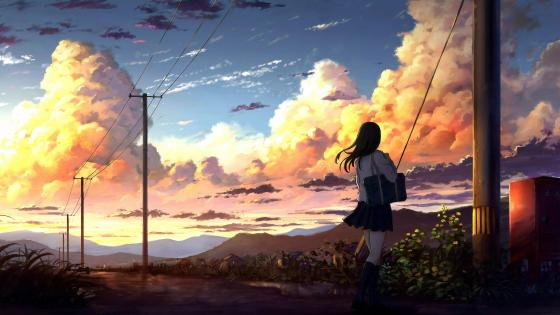 Scenery Cloud Anime Horizon wallpaper
