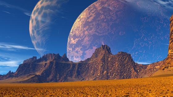 Alien planet landscape wallpaper