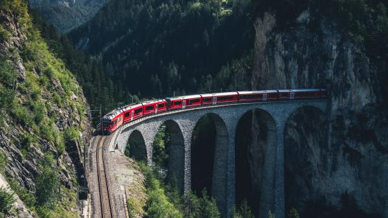 Aerial View of Train Bridge  wallpaper