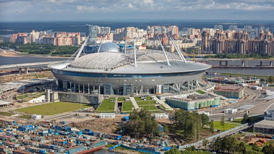 Krestovsky Stadium in Saint Petersburg wallpaper