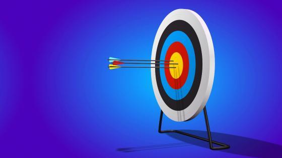 Circular Target With Arrows wallpaper