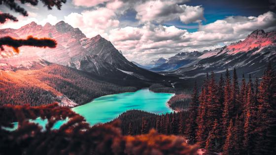 mountain lake wallpaper