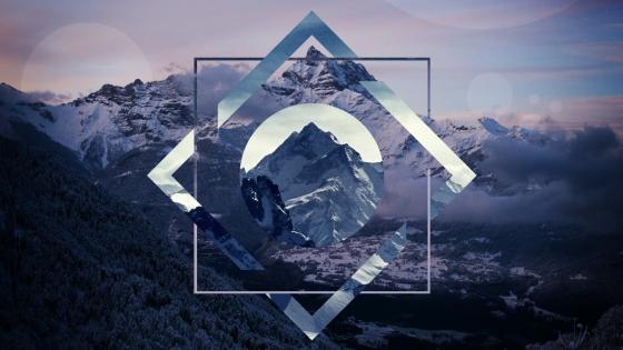 Mountains Polygon  wallpaper