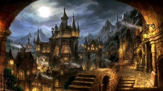 Fantasy Gothic  Medieval Architecture wallpaper