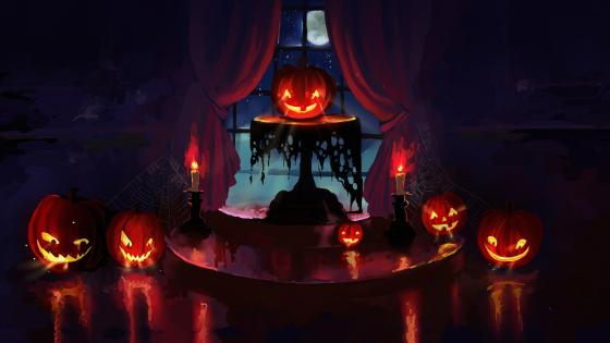 Halloween Jack-o'-lanterns wallpaper