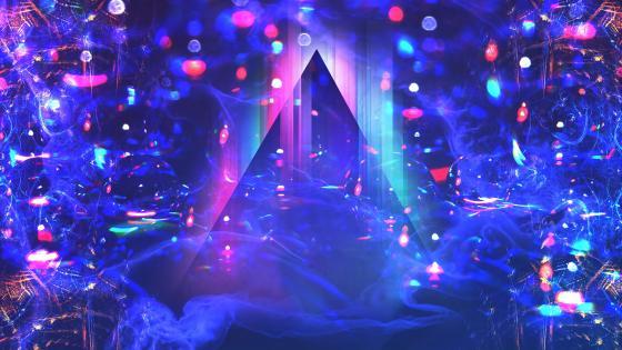 Abstract neon lights wallpaper