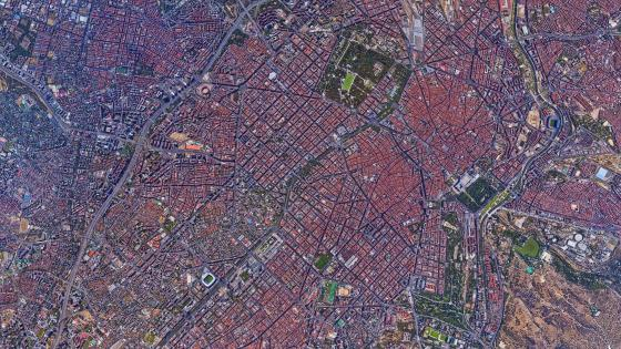 Madrid Cityscape Satellite Imagery wallpaper