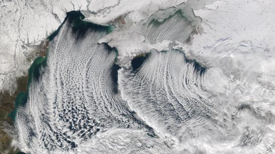 Cloud Streets over the Black Sea wallpaper