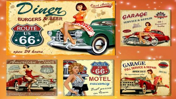 Vintage Posters Pin Up wallpaper