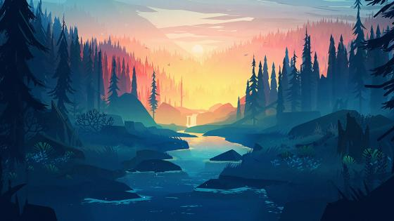 Landscape Art wallpaper