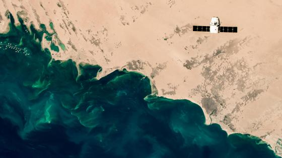 The SpaceX Dragon's Journey to the Space Station wallpaper