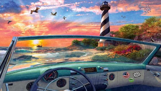 Cape Hatteras Painting wallpaper