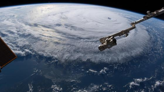 Hurricane Florence from ISS wallpaper