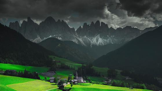 Funes Valley wallpaper