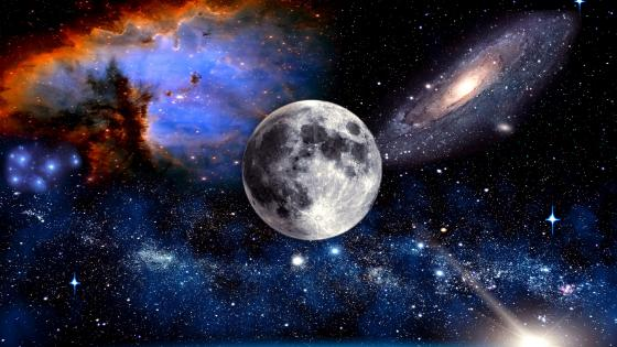 Moon In The Universe wallpaper