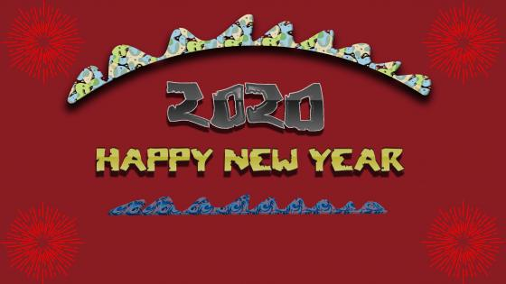 happy new year2020 wallpaper