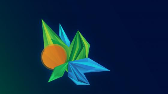 abstract facets wallpaper