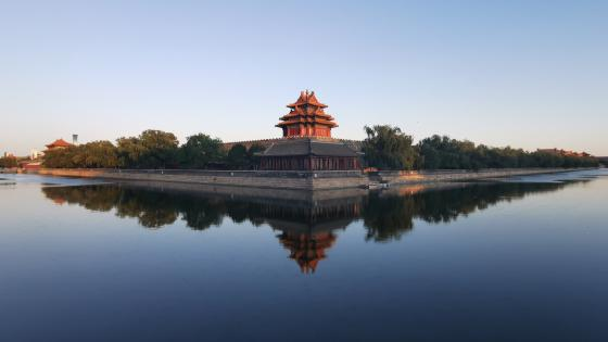 Forbidden City Corner Building wallpaper
