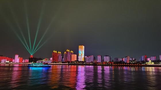 Wuhan night view wallpaper