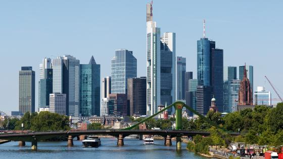 Skyline of Frankfurt wallpaper