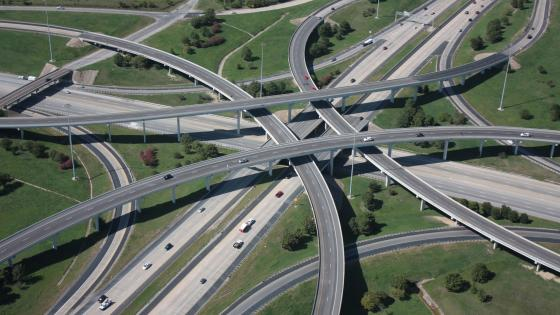 Interchange in Fort Worth wallpaper