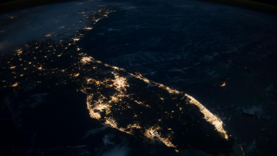 Florida Peninsula at night wallpaper