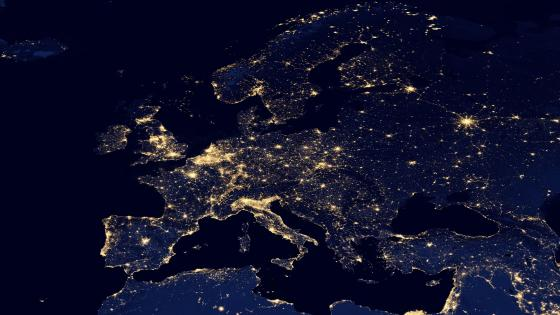 Night Lights of Europe v2012 wallpaper