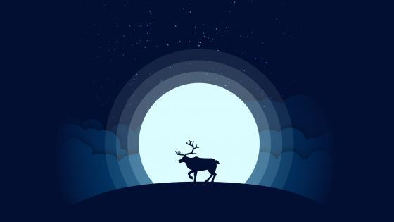 reindeer silhouette wallpaper