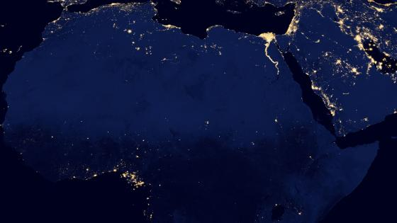 Night Lights of North & West Africa v2012 wallpaper