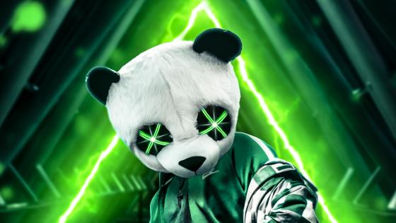 Neon Green Panda wallpaper