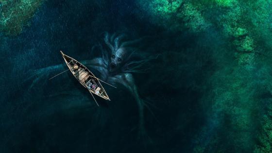 Aquatic monster wallpaper