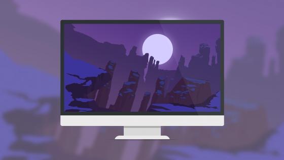 Minimal monitor wallpaper