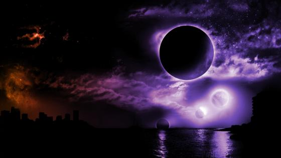 Purple Moon wallpaper