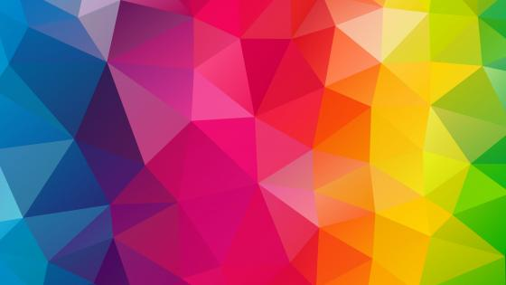 triangle colorful wallpaper