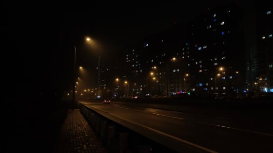 night Moscow wallpaper