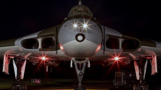 Avro Vulcan at night wallpaper