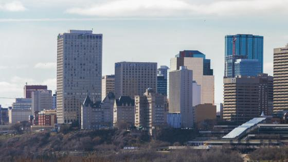 2016 Edmonton Skyline wallpaper