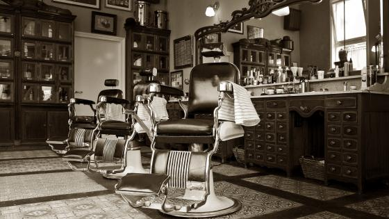 Vintage Barber Shop wallpaper
