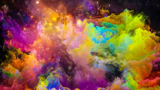Colorful space smoke wallpaper